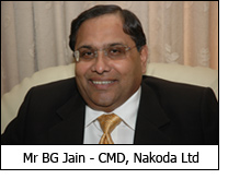Mr BG Jain - CMD, Nakoda Ltd