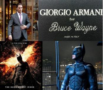 Giorgio Armani styles 'The Dark Knight Rises' wardrobe