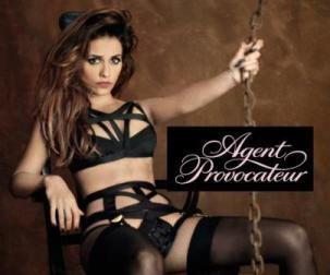 Monica Cruz smoulders in Agent Provocateur lingerie