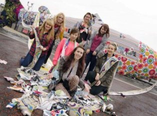 University of Ulster students take to the streets in style