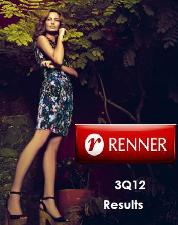 Revenues surge 22.2% at Brazilian Lojas Renner in Q3 2012