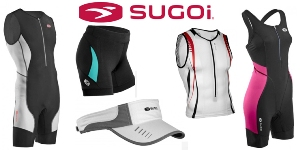 Ironman triathlon athletes don Sugoi Performance apparel