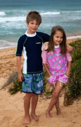 Girls UV Bathing Suit - Sun Protective Swimwear- size 10