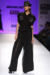 Black on black silhouettes define Mrinalini line