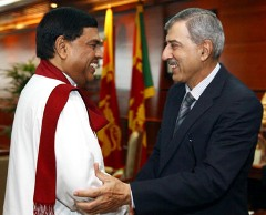 Mr. Rajapaksa(L); Mr. Qureshi(R)/news.lk