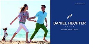 Daniel Hechter SS line offers trendy colored trousers