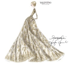 Valentino designs one of a kind couture gown for amfAR's
