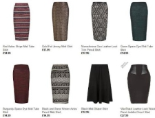 New Look puts hot new spin into midi skirts