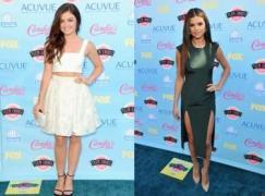 Lucy Hale; Selena Gomez/hollywoodlife.com