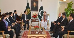 Mr. Sharif with the Chinese delegation