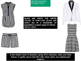 Benetton brings black & white flirty classic clothing line