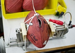 Wilson Sporting uses Gerber's Taurus II to make footballs