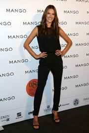 Alessandra Ambrosio catwalks at Mango S/S'14 fashion show