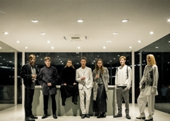 Models display Calvin Klein line in unique concept house