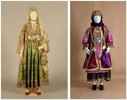 Festival costumes-18th (L) & 20th century