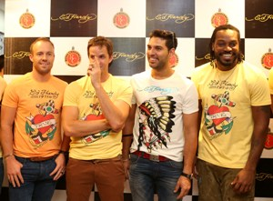 Ed Hardy opens Bangalore's first store with IPL Team 'RCB'