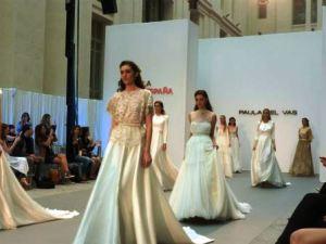 718ab8043 Pasarela Costura España highlights Spanish bridal industry. 22. May  14.  courtesy  Notimerica EP Paula del Vas