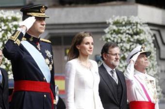 King Felipe VI & Queen Letizia with PM Mariano Rajoy