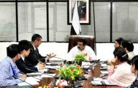 Mr. Afridi with JICA representatives/c: PID