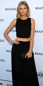 German model Toni Garrn inaugurates Mango's fashion runway