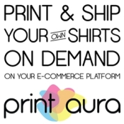 Print Aura's apps automatically prints & ships t-shirts