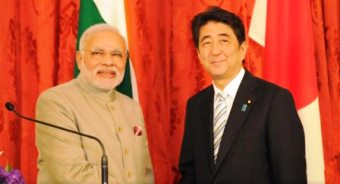 Mr. Modi (L) with Mr. Abe/c: narendramodi.in