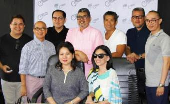 Filipino designers with CITEM Executive Director Rosvi Gaetos