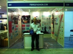 Fibre2fashion booth at VTG
