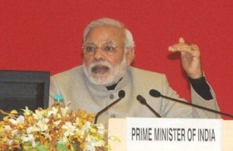 Narendra Modi addressing
