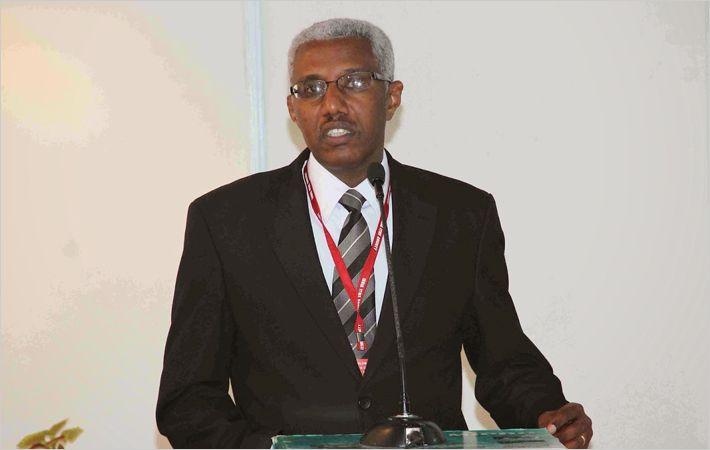 Mr. Seleshi Lemma speaking at the event