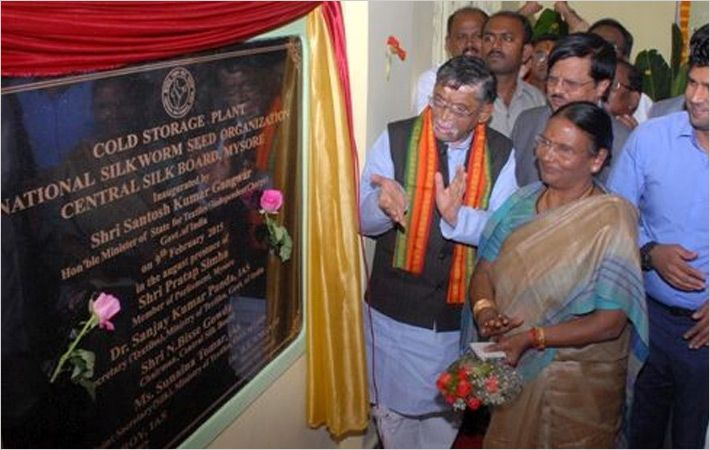Textiles minister inaugurating cold storage plant