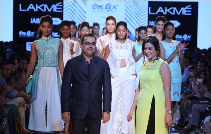 Designers Pankaj & Nidhi at Lakme Fashion Week SR 15