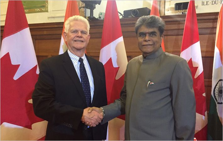 Mr. Bruce Wilson (Left)  and Dr. A. Sakthivel