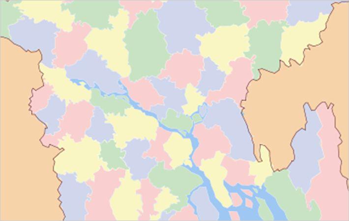 Munshiganj (marked red)/C: Wikimedia