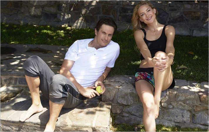 L-R: Oliver Hudson and Kate Hudson