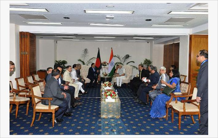Modi with presidents of leading chambers in Bangladesh/C: PIB