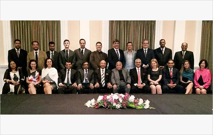 Sri Lanka apparel delegates at BIAS 2015 show