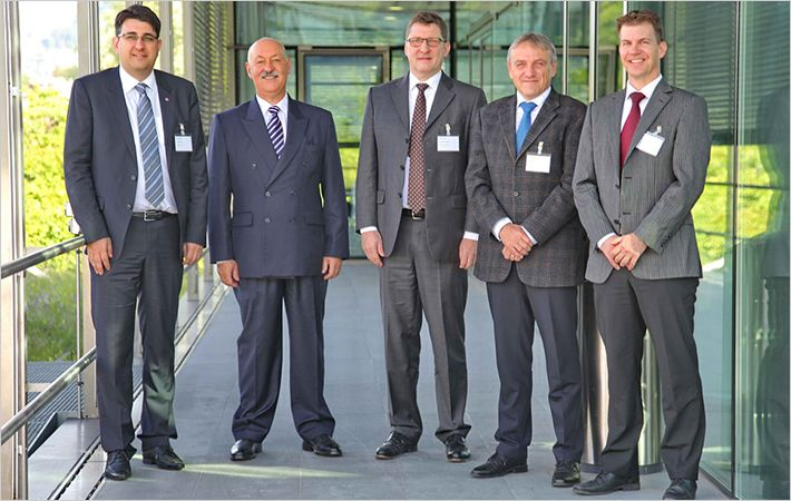 Ernesto Maurer (2nd from left) with other board members