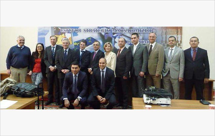 French delegation in Uzbekistan