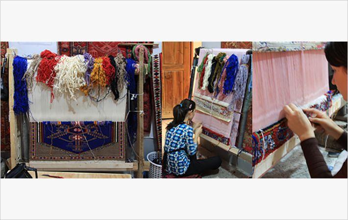 Kurdish women weaving rugs/Courtesy: KTM