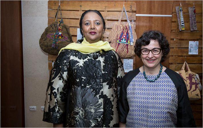 Amina Mohamed (left) at FFD/ Courtesy: Petterik Wiggers