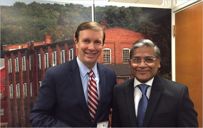 Mohammad Ziauddin (Right) with Senator Murphy