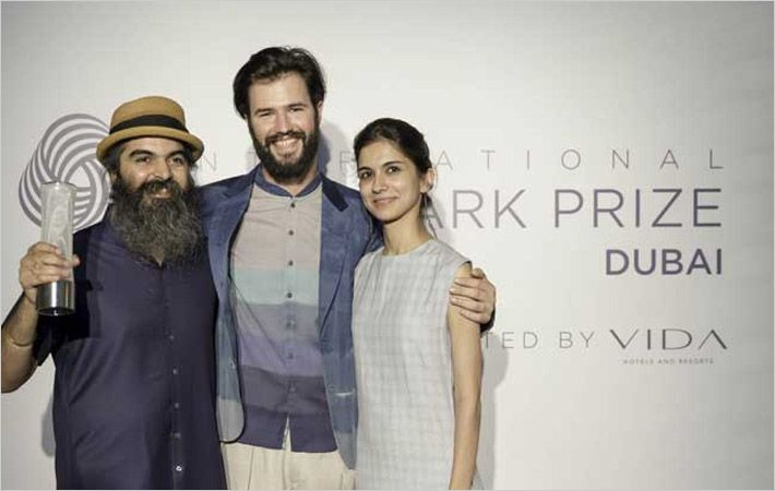 Suketdhir (left) with Woolmark prize
