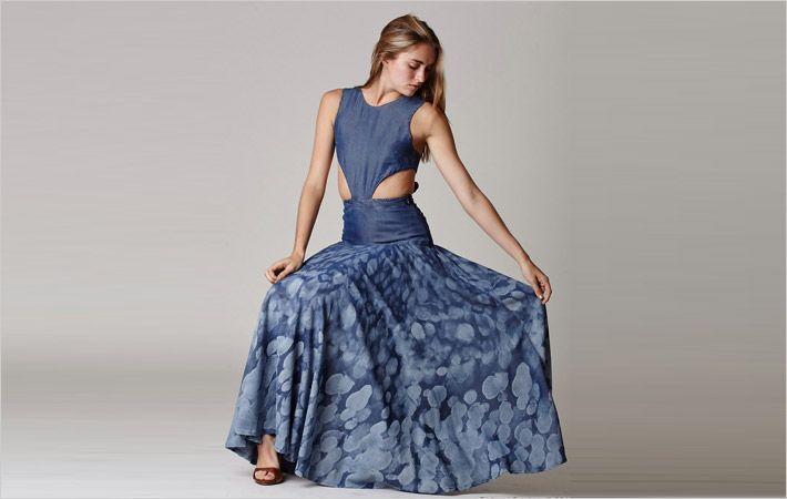 Water Lily dress made of Tencel fibres