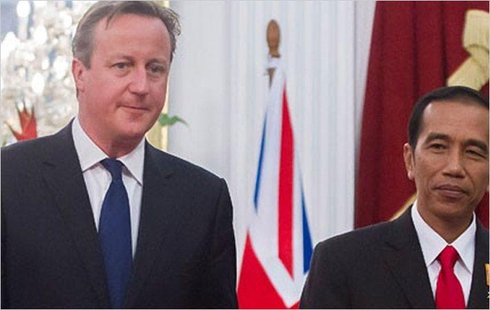 Cameron (left) & Widodo (Courtesy:ANTARA/Widodo S Jusuf)