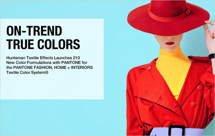 Huntsman debuts 210 new dyes in partnership with Pantone