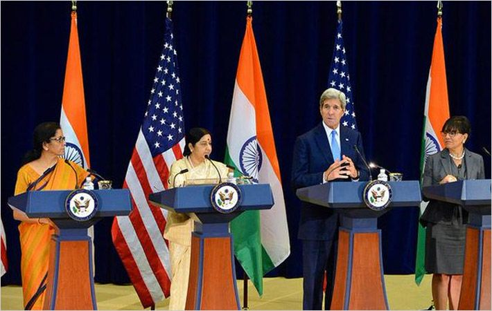 Photo of joint press conference/Courtesy: US Department of State