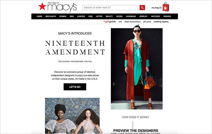 Macy's.com gives customers access to worldwide designers