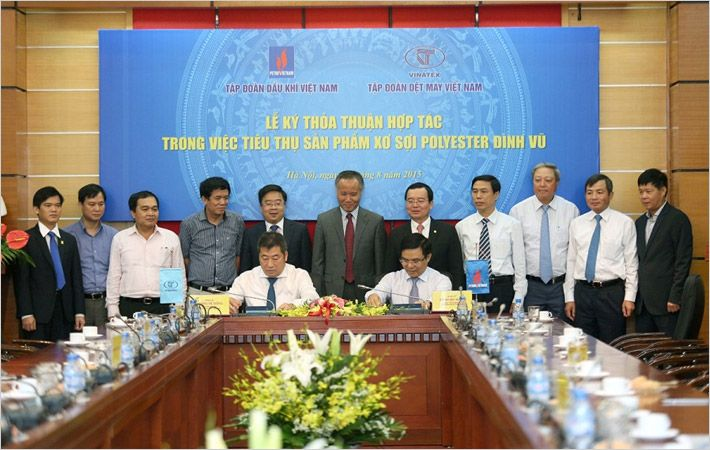 Petrovietnam, Vinatex sign deal on polyester fibre use