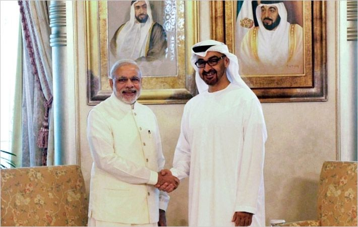 Modi (left) with Zayed AI Nahyan/Courtesy: PIB